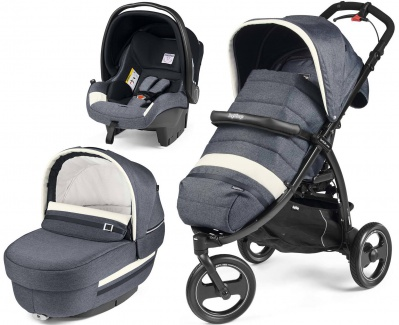 Коляска 3 в 1 Peg-Perego Book Cross Modular Luxe Mirage